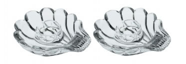 Bohemia Crystal Clam Candleholder 9cm/pair