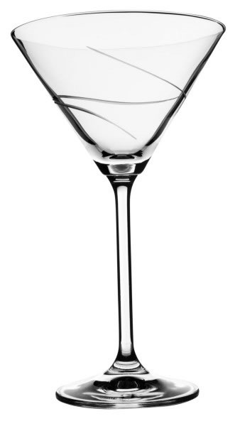 Bohemia Crystal Distinction Martini Glass 280ml/6pc