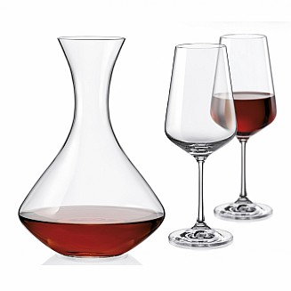 Bohemia Crystal FYT Sandra Wine Set/3PC