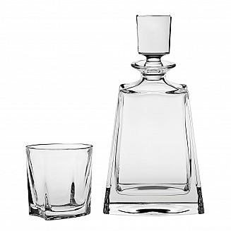 Bohemia Crystal Boston Whisky Set w/2 glasses