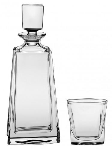 Bohemia Crystal Boston Whisky Set w/6 glasses