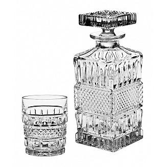 Bohemia Crystal Brittany Whisky Set 1+6PC/SET