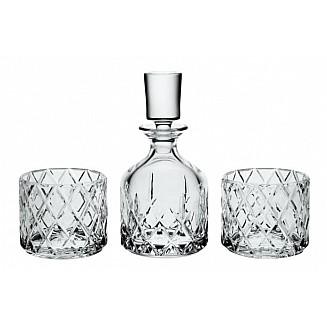 Bohemia Crystal Minister Whisky Set 1+2PC/SET