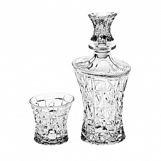 Bohemia Crystal Patriot Whisky Set w/6 glasses