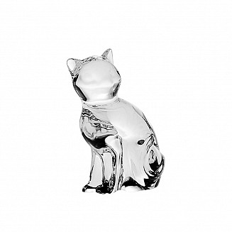 Bohemia Crystal Cat Figurine 6cm