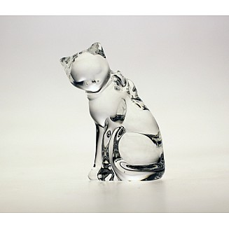 Bohemia Crystal Cat Figurine 9cm