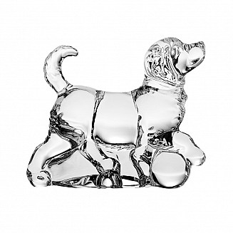 Bohemia Crystal Dog Figurine