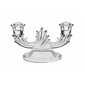 Bohemia Crystal Candle Holder 2H 21CM