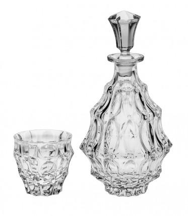Bohemia Crystal Fortune Whisky Set 1+6PC/SET
