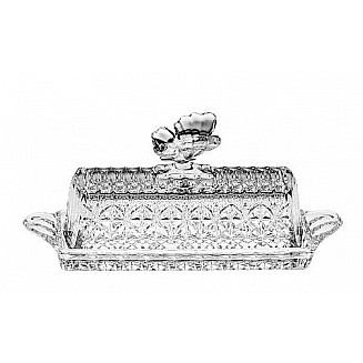 Bohemia Crystal Butterfly Butter Box 20.5cm/1PC
