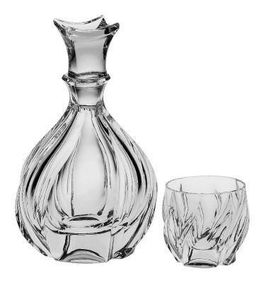 Bohemia Crystal Bromelias Whisky Set 1+6PC/SET