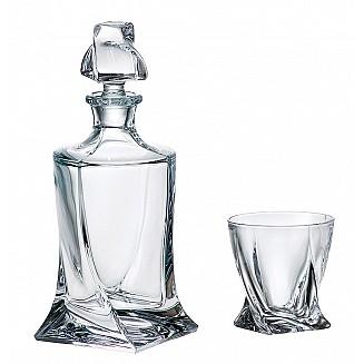 Bohemia Crystal Quadro Whisky Set 1+6PC/SET