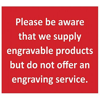 Sorry we DO NOT offer an engraving service
