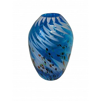 Crafted Art Glass Vase 30.5CM