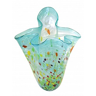 Crafted Art Glass Vase 39CM