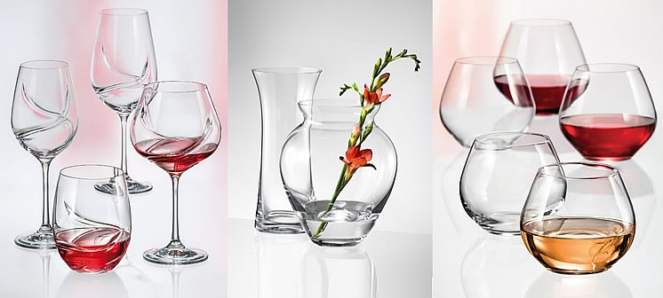 Stylish glassware with Turbulence, For Your Home Vases & Amoroso.